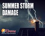 Repairing Summer Storm Damage