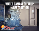 Water Damage Cleanup vs Restoration